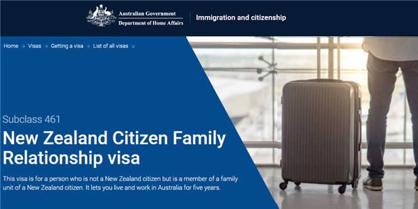 NZ Citizen Family Relationship Visa (461)