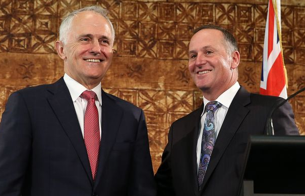 Malcolm Turnbull and John Key