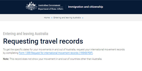 Request your travel records