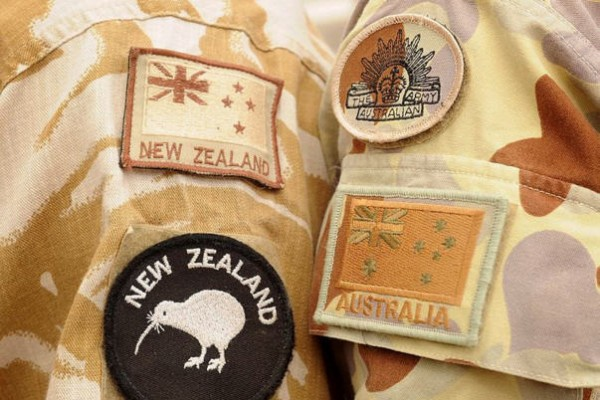ANZAC soldier emblems