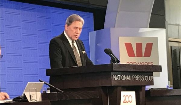 Winston Peters speech