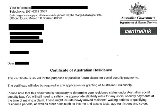 Sample Letter To Centrelink