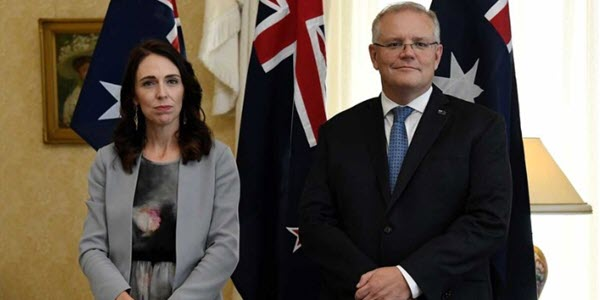 NZ PM Jacinda Ardern and Australian PM Scott Morrison have clashed over immigration policies.